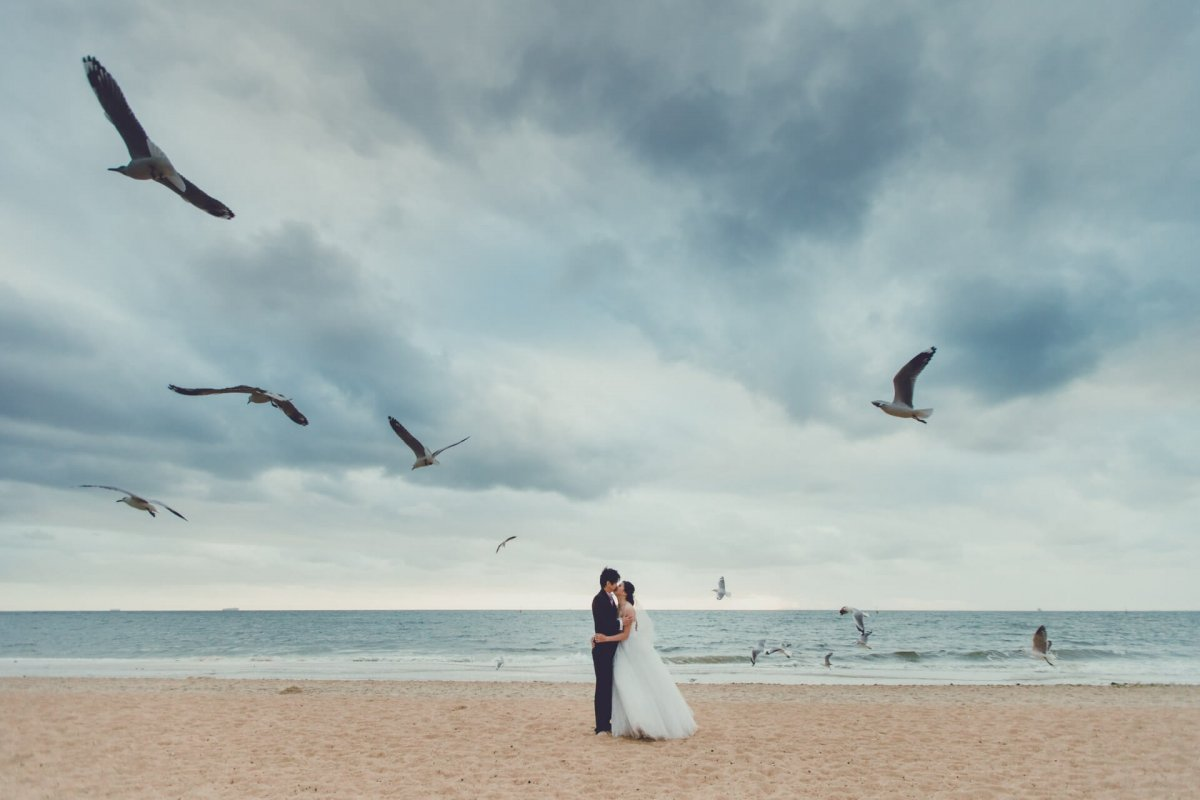 Seagull Beach Melmourne Beach Australia Prewedding Photos Jason Angeline