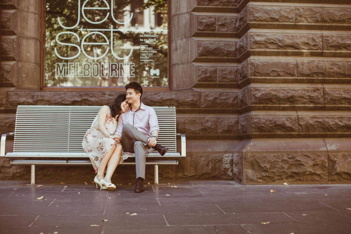destination prewedding photography malaysia melbourne beach house bath red groom bride wedding photographer