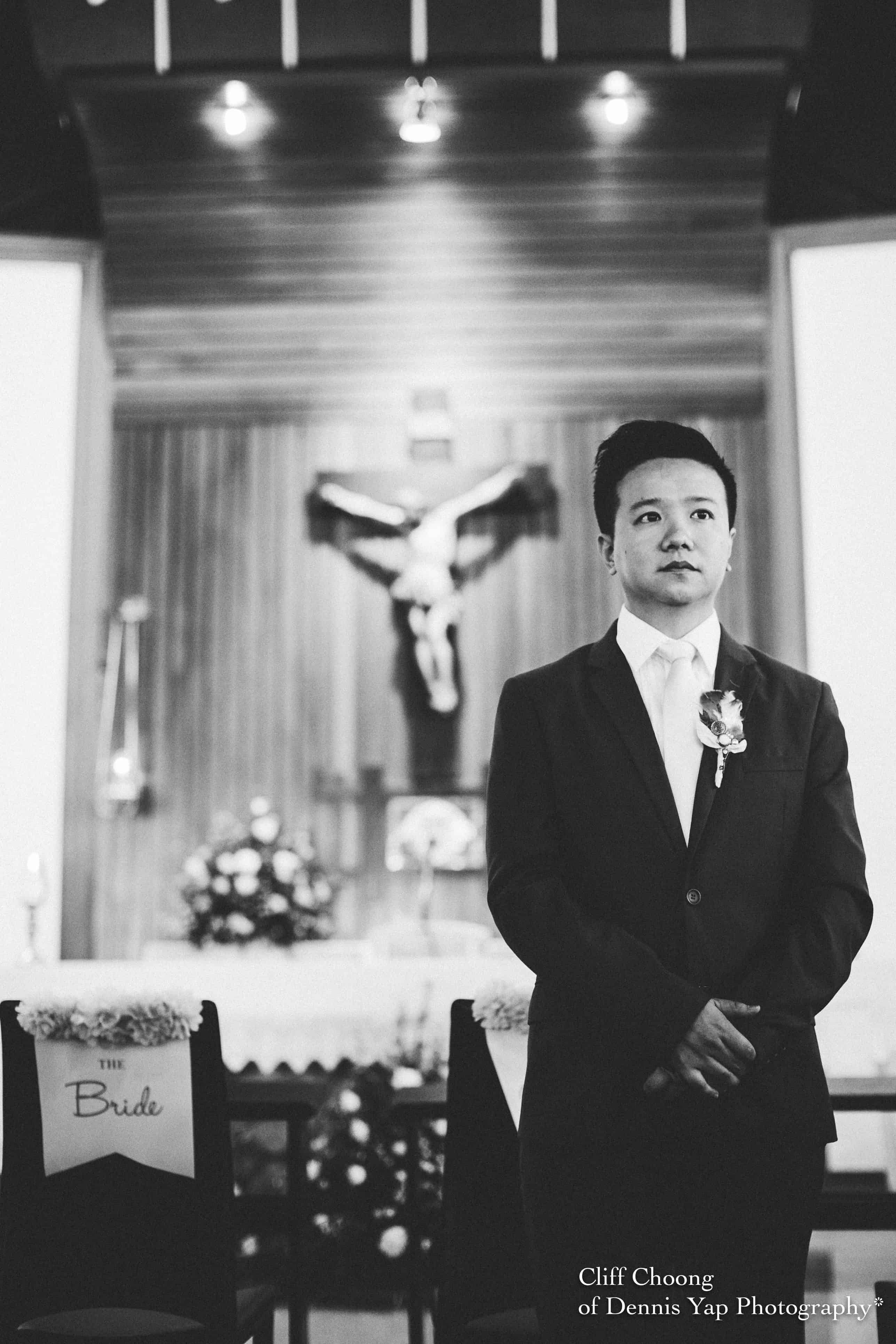 Miri Wedding Church Ceremony Malaysia Actual Day Photography Cliff Choong