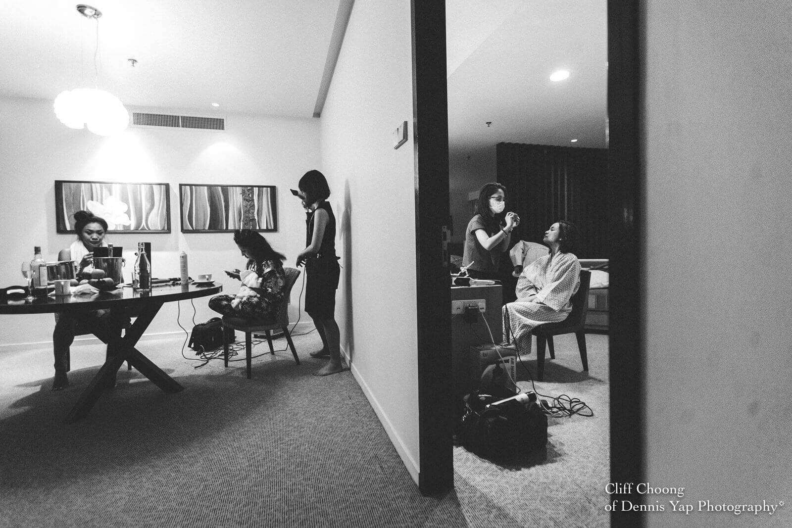 Wedding Day in Kota Kinabalu Sabah Malaysia Shangri-La Tanjung Aru Resort and Spa Cliff Choong Photography bride getting ready
