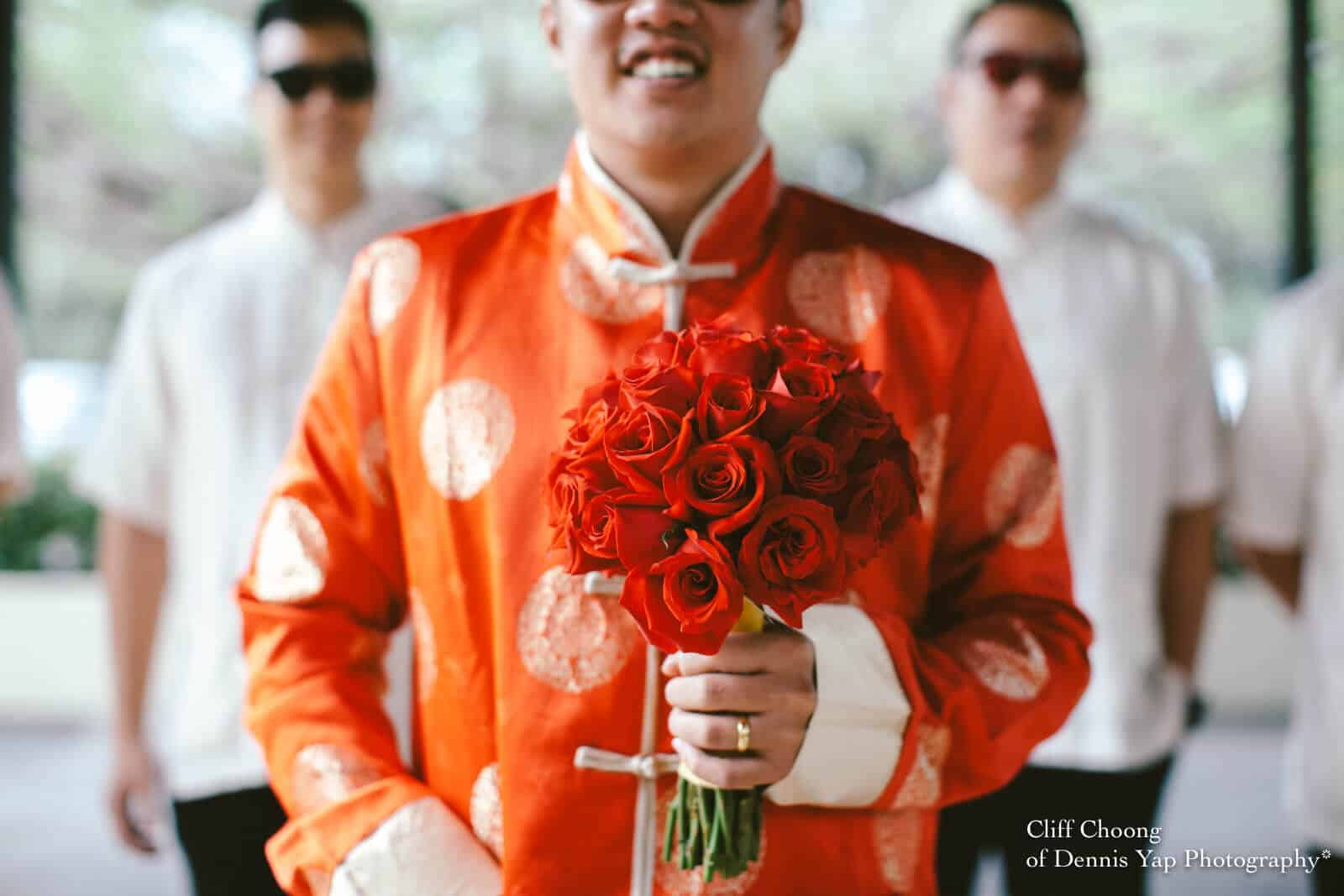 Wedding Day in Kota Kinabalu Sabah Malaysia Shangri-La Tanjung Aru Resort and Spa Cliff Choong Photography groom