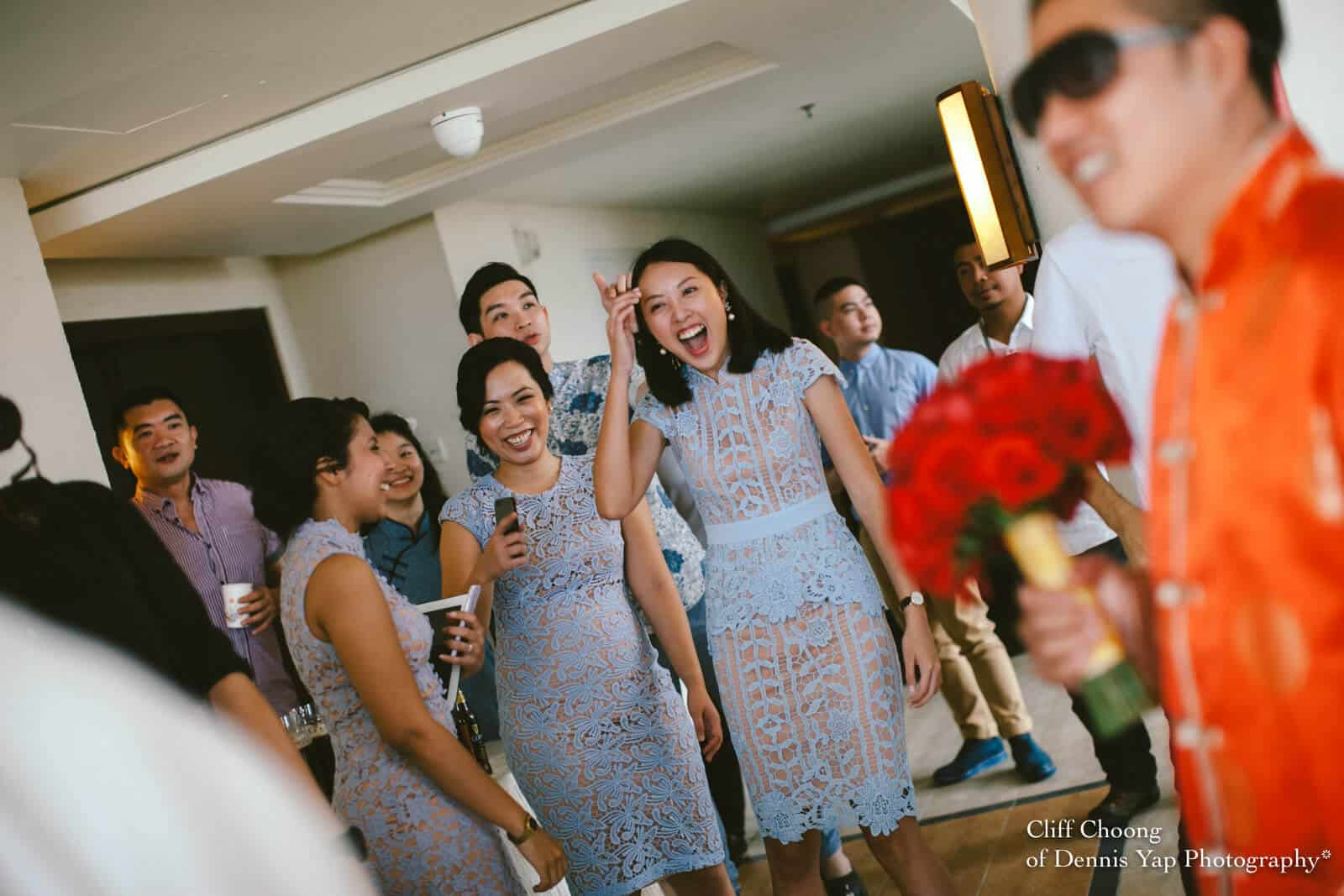 Wedding Day in Kota Kinabalu Sabah Malaysia Shangri-La Tanjung Aru Resort and Spa Cliff Choong Photography chinese gate crashing game