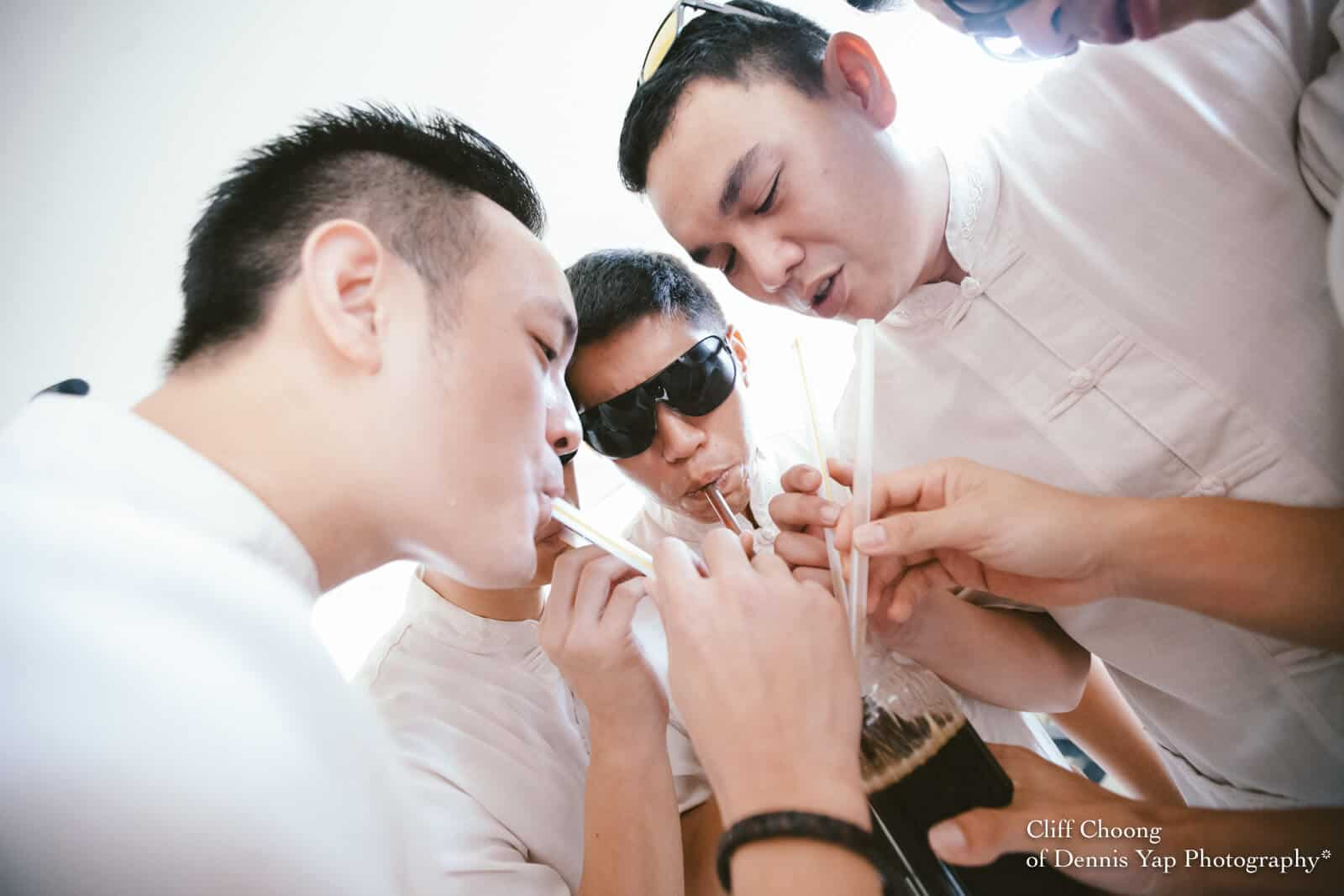 Wedding Day in Kota Kinabalu Sabah Malaysia Shangri-La Tanjung Aru Resort and Spa Cliff Choong Photography groom entourage