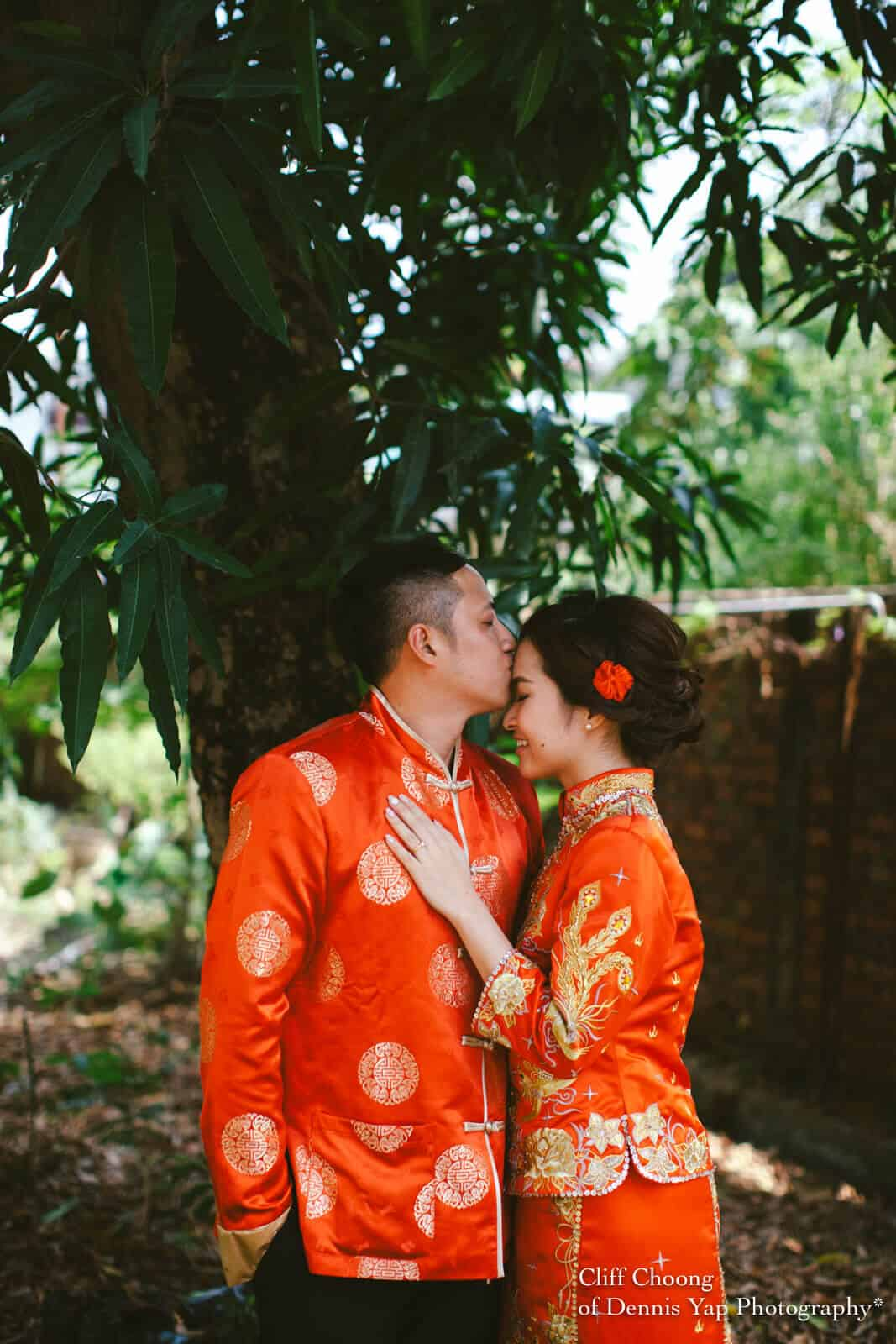 Wedding Day in Kota Kinabalu Sabah Malaysia Shangri-La Tanjung Aru Resort and Spa Cliff Choong Photography groom bride kiss