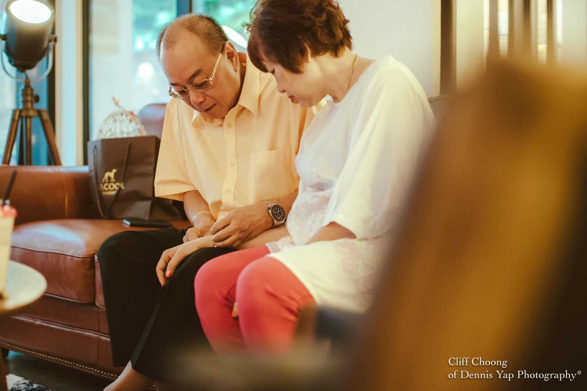 Wedding day in Kuala Lumpur Kota Kemuning Malaysia Cliff Choong Photography Bride getting ready parents love