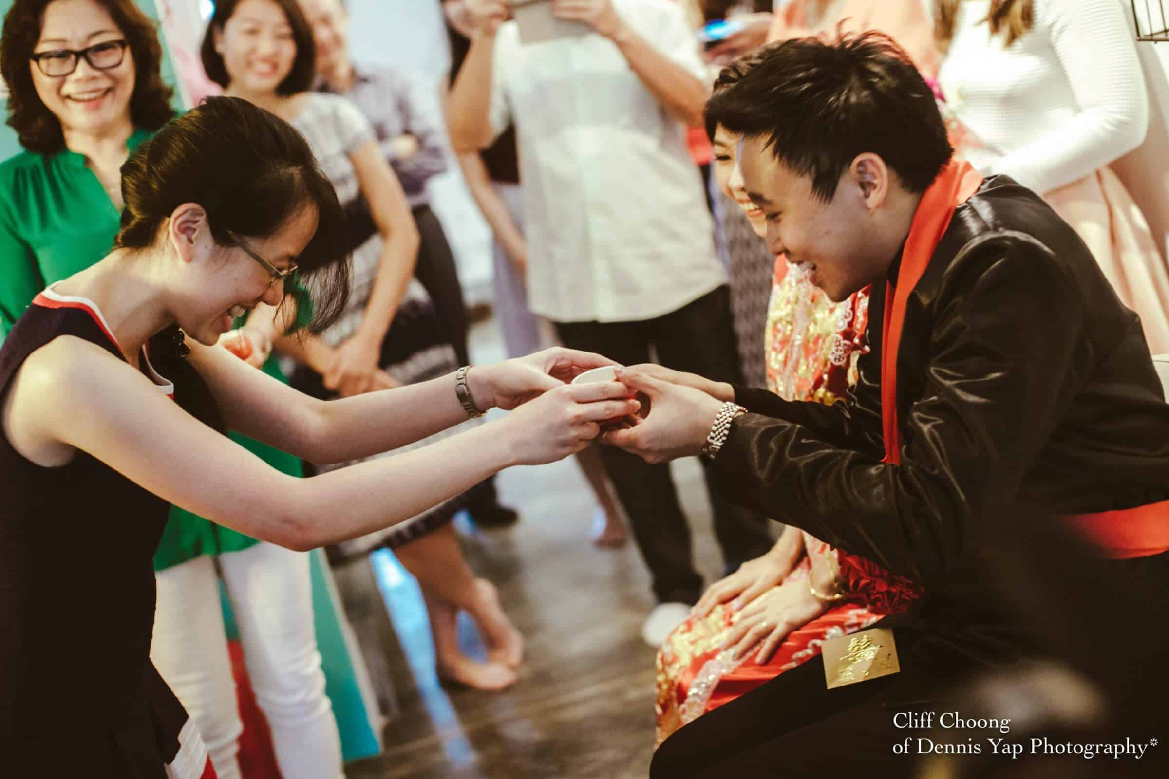 Wedding day in Kuala Lumpur Kota Kemuning Malaysia Cliff Choong Photography actual day Tea Ceremony