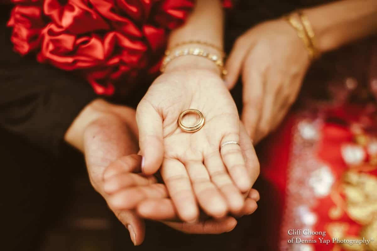 Wedding day in Kuala Lumpur Kota Kemuning Malaysia Cliff Choong Photography actual day Tea Ceremony red chinese traditional rings