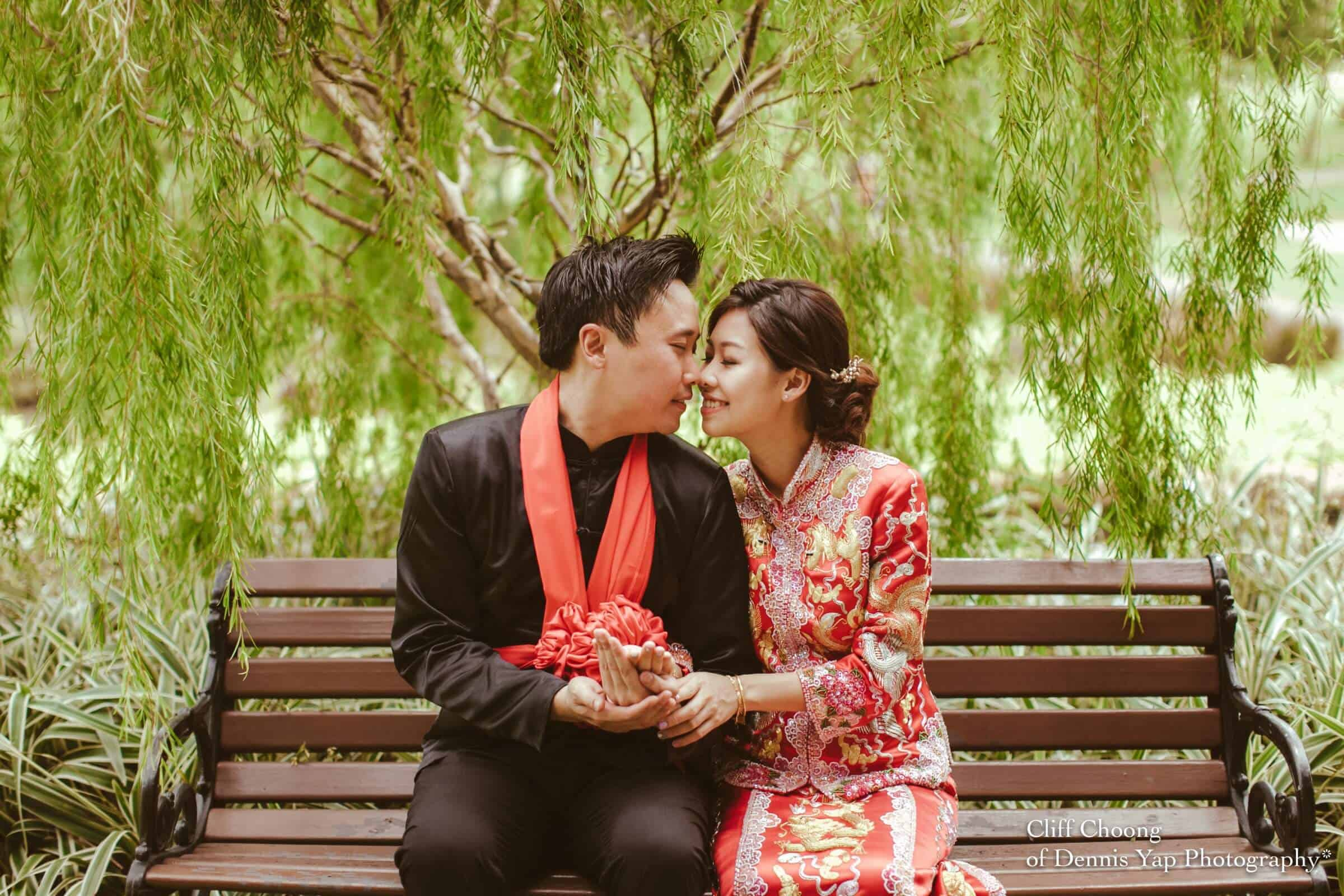 Wedding day in Kuala Lumpur Kota Kemuning Malaysia Cliff Choong Photography actual day Tea Ceremony red chinese traditional rings couple