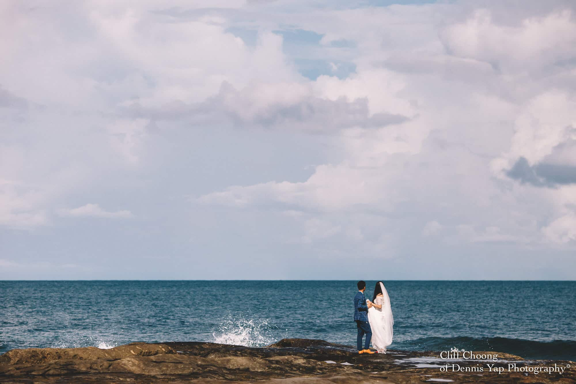 Malaysia Best Prewedding Destination Kota Kinabalu Engagement Photography Cliff Choong wedding photographer nature beach cloud blue sky