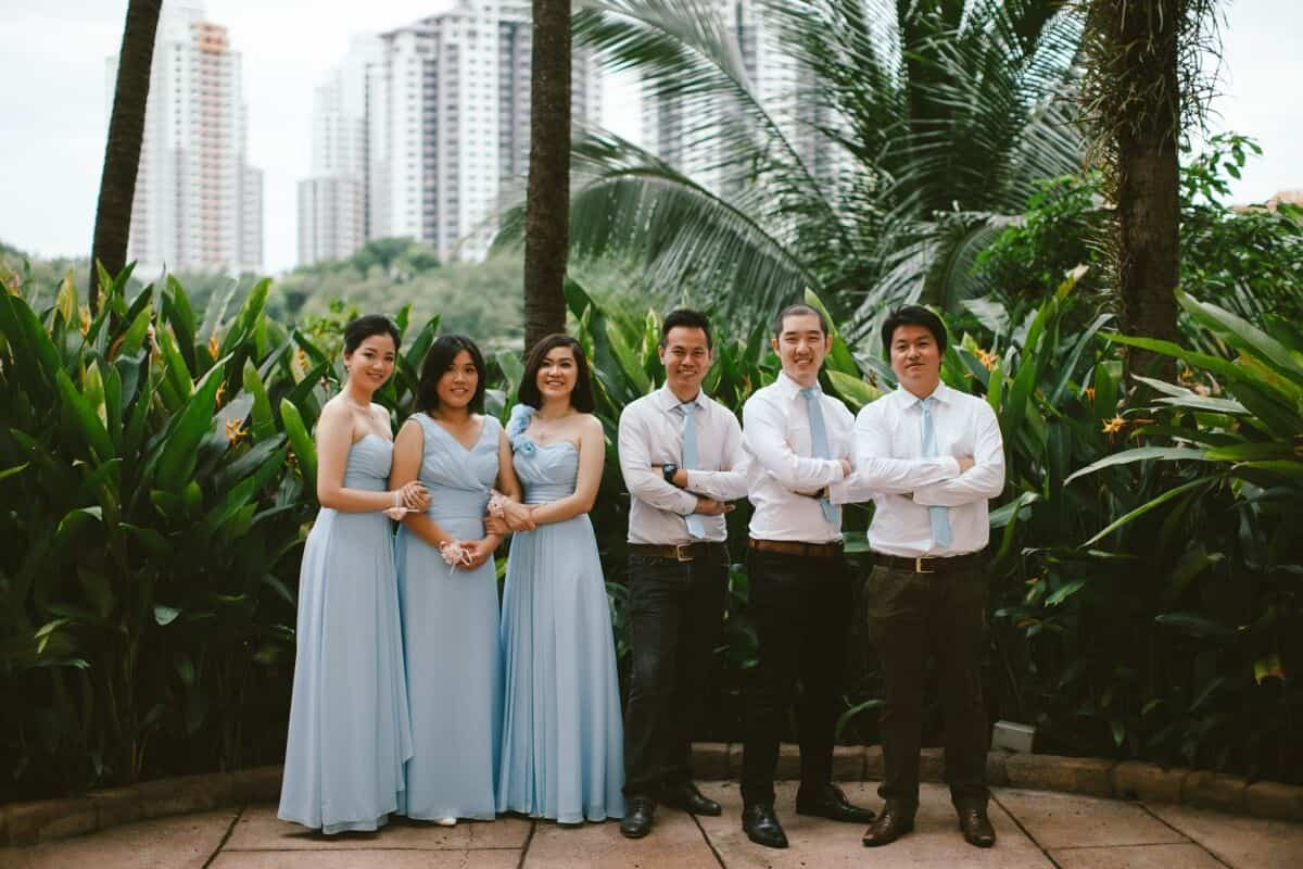 Malaysia Classic Vintage Chinese Wedding Kuala Lumpur Cliff Choong Photography Cross-culture Indonadian Malaysian Yat Ming & Mega bridal party bridesmaids groomsmen