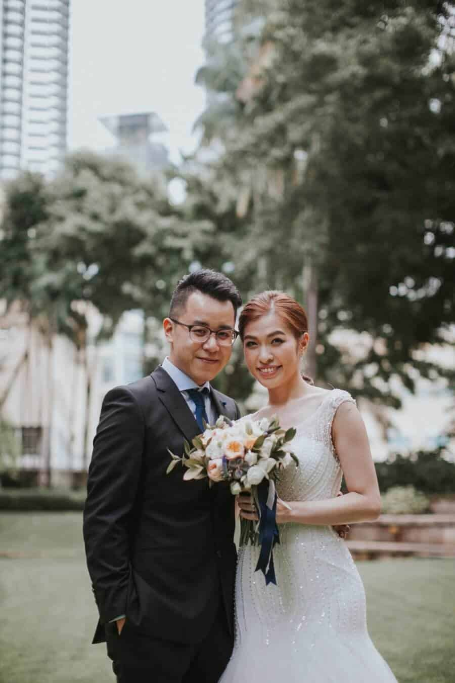 Malaysia Classic Simple elegant Wedding Mandarin Oriental Kuala Lumpur calligraphy Cliff Choong Photography Jon Sharon golden sunrise calligraphy bride bridesmaids groom