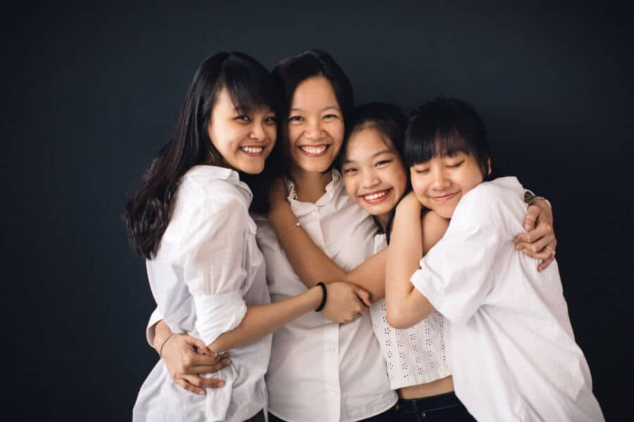 Studio Portrait Simple Minimalist Black Back Drop Couple Husband and Wife Beloved Family Cliff Choong Photography Malaysia Kuala Lumpur SIngapore Hong Kong Taiwan Siblings Senior Sisters Daughters Mother