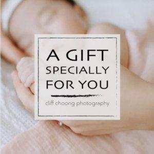 Gift Card for Newborn Portrait Session from Cliff Choong Photography