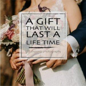 A special gift card for wedding family prewedding portrait newborn maternity lifestyle session Cliff Choong photography