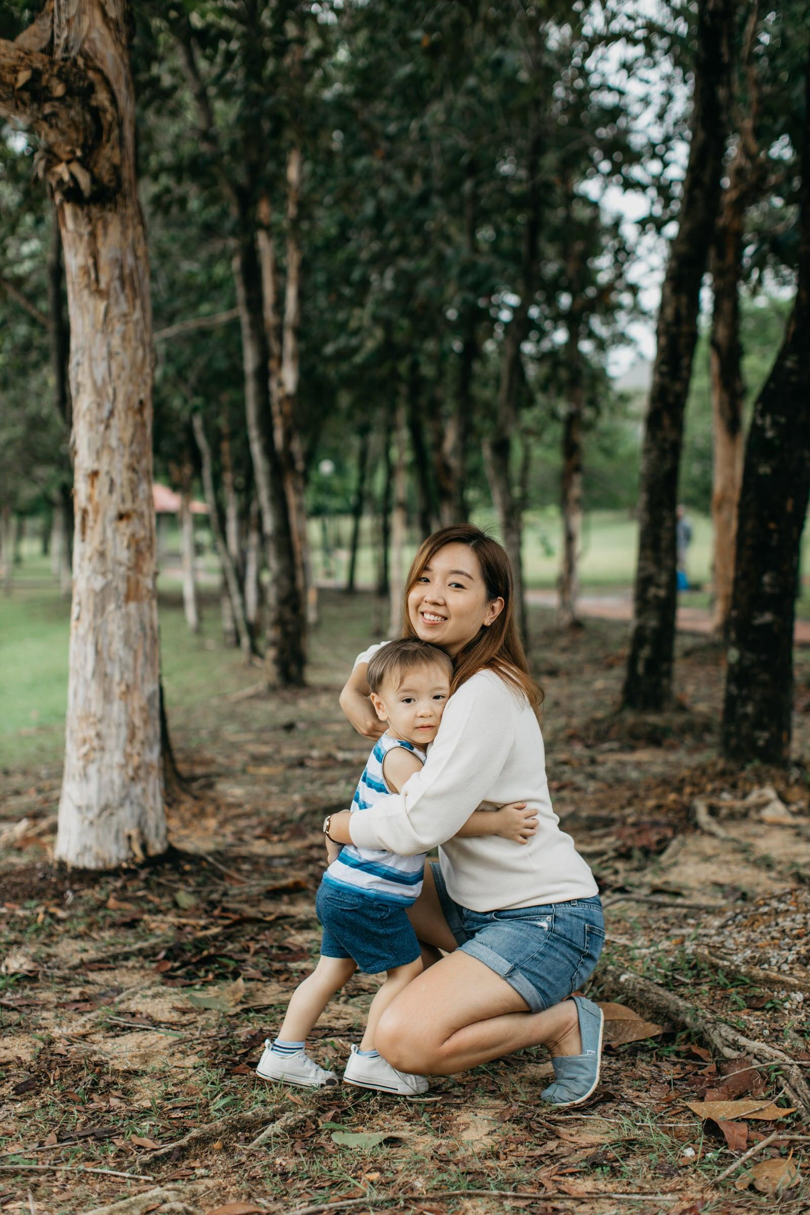 Cute little boy with mommy Damansar Tropical Family Portrait Session in Kuala Lumpur Malaysia
