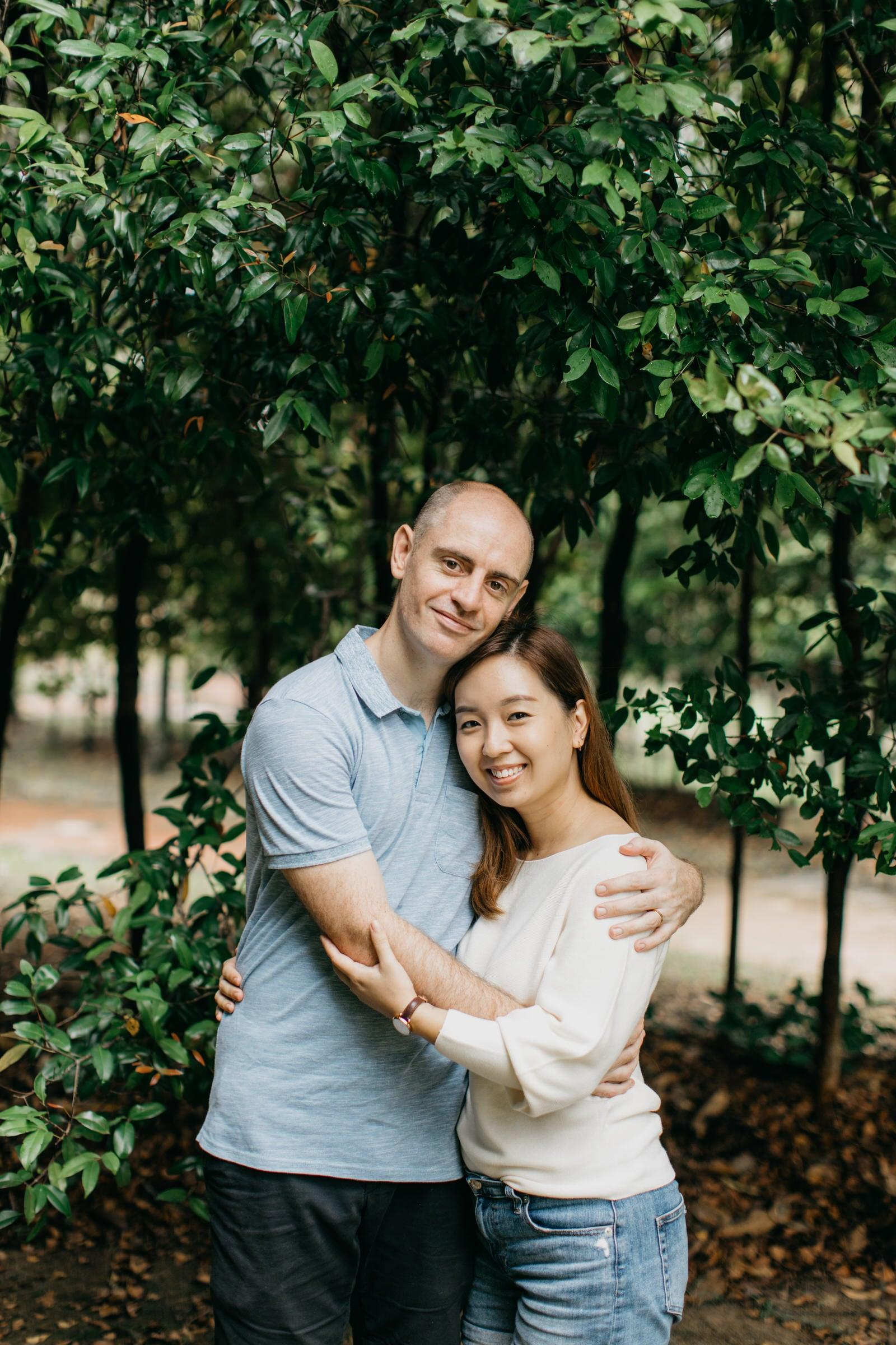 lovely couple Damansar Tropical Family Portrait Session in Kuala Lumpur Malaysia