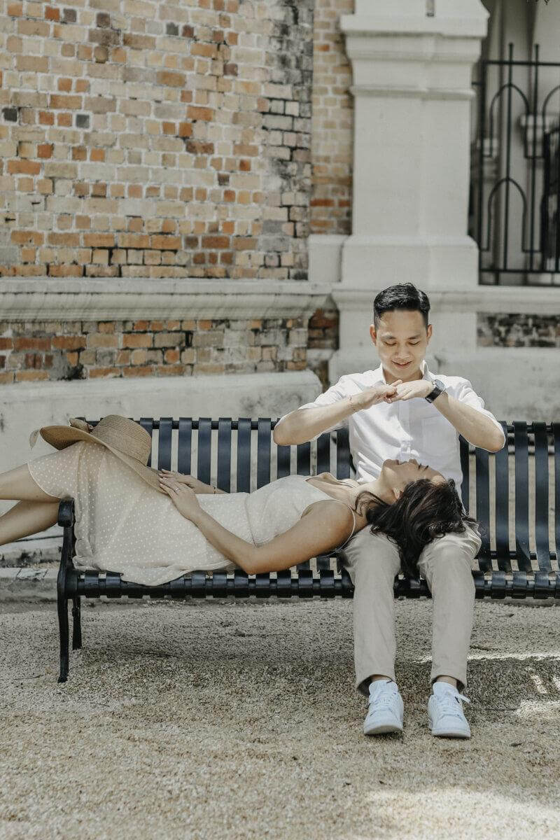 Covid19 Couple Fun Love Portrait in the Beautiful Kuala Lumpur Cliff Choong Photography