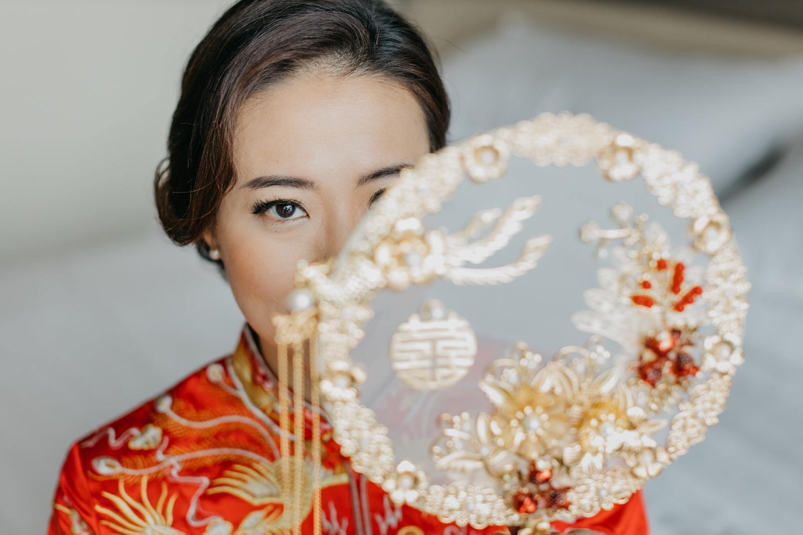 Bride on Red Chinese Kwa Moment Shot Wedding in Kuala Lumpur
