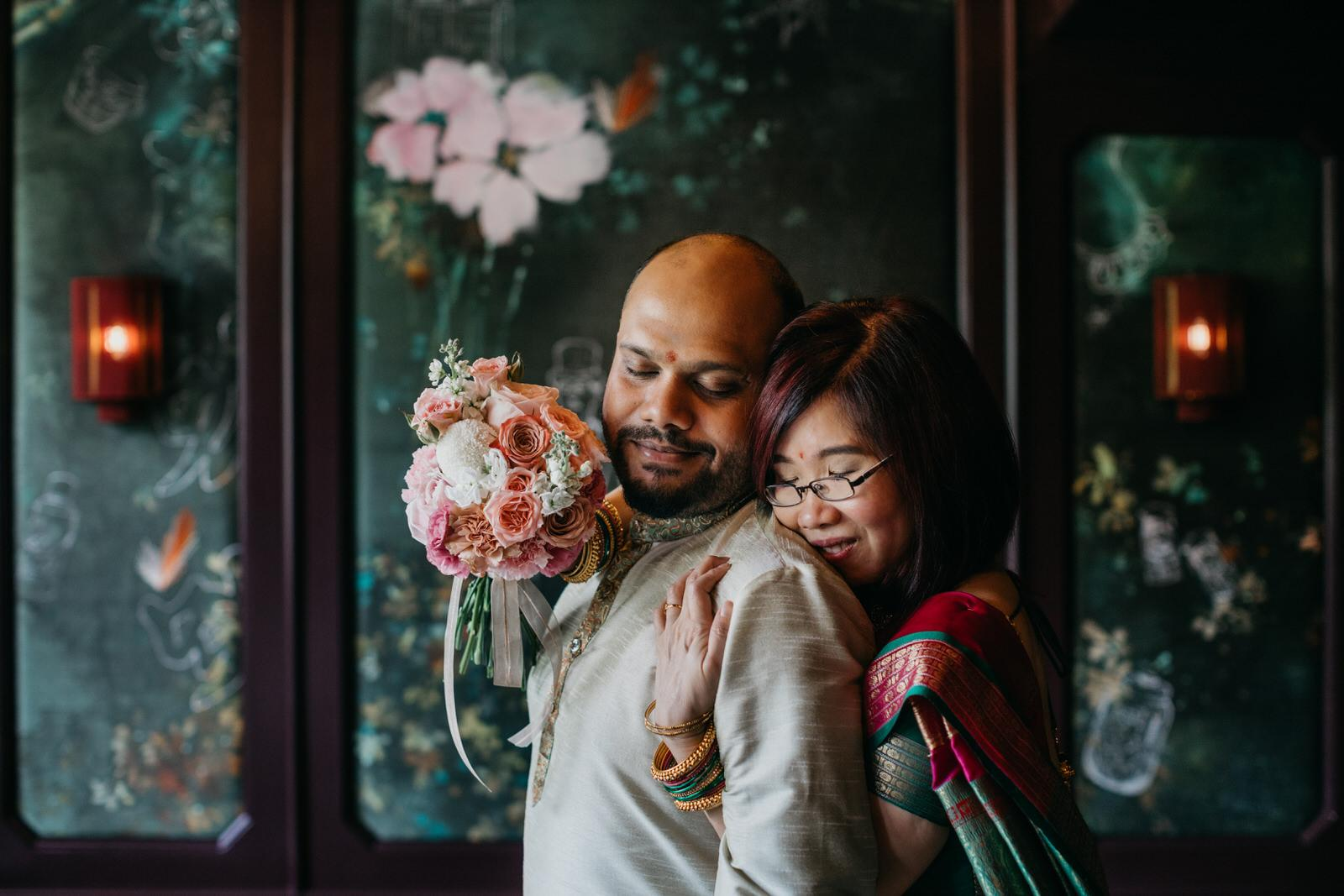 couple photo An intimate cross-cultural indian chinese wedding at The Chow Kit Hotel in Kuala Lumpur Malaysia Wedding and Portrait Photographer Cliff Choong Photography