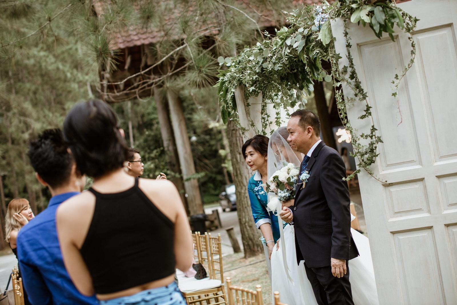 Bride and parents march in Tanarimba Rustic Garden Weding Janda baik Decoration Photobooth Cliff Choong Photography