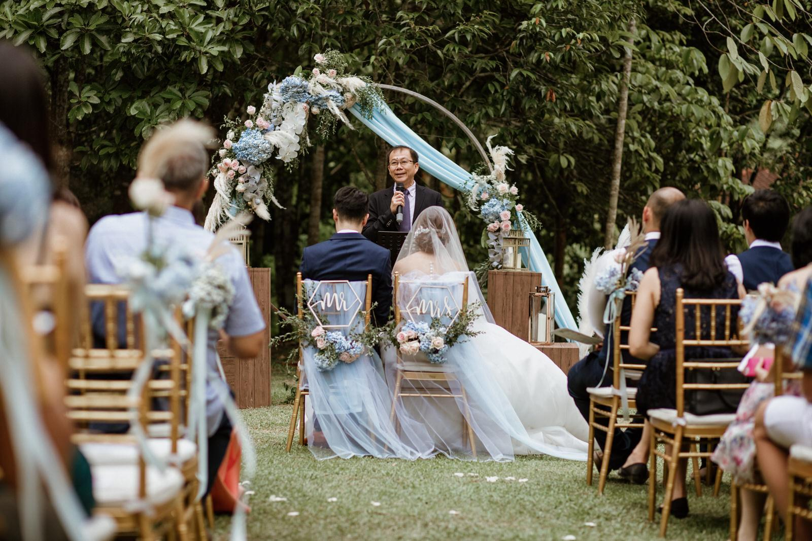 Rings Exchange Ceremony Tanarimba Rustic Garden Weding Janda baik Decoration Photobooth Cliff Choong Photography