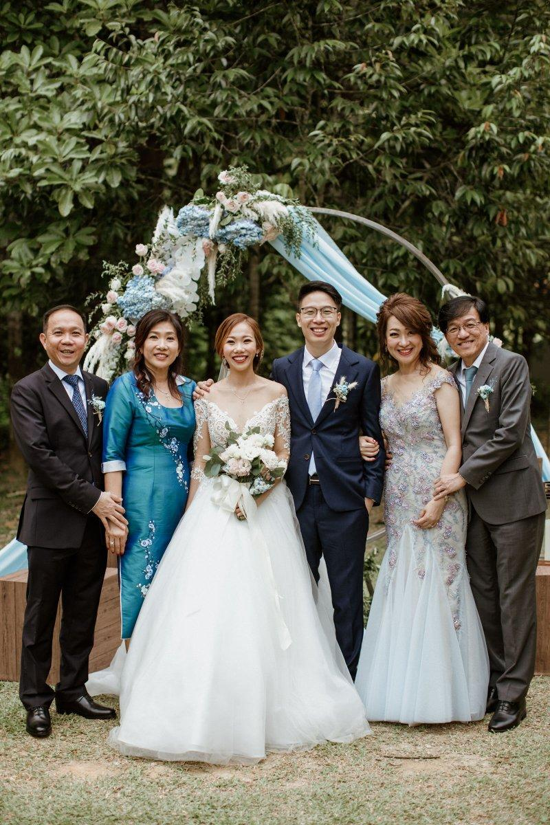 Bride Groom Family Tanarimba Rustic Garden Weding Janda baik Decoration Photobooth Cliff Choong Photograph