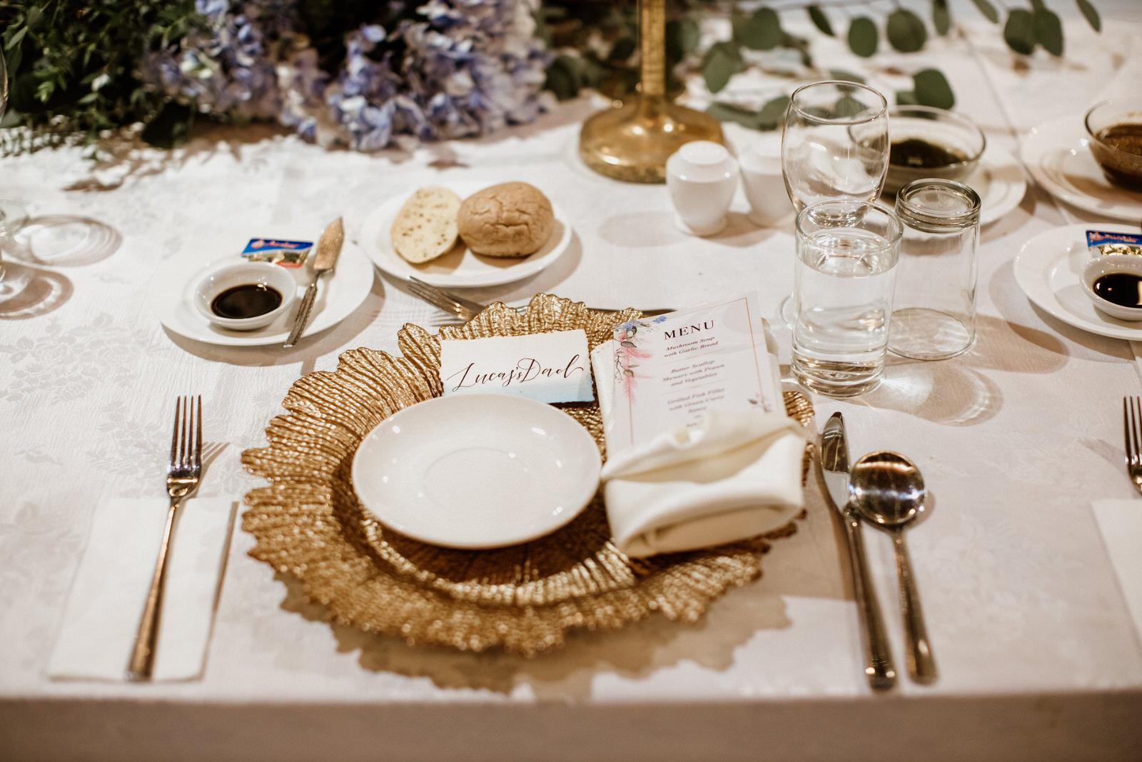Tanarimba Gold and Rustic Garden Weding Janda baik Decoration wooden chair feather flowers Cliff Choong Photography