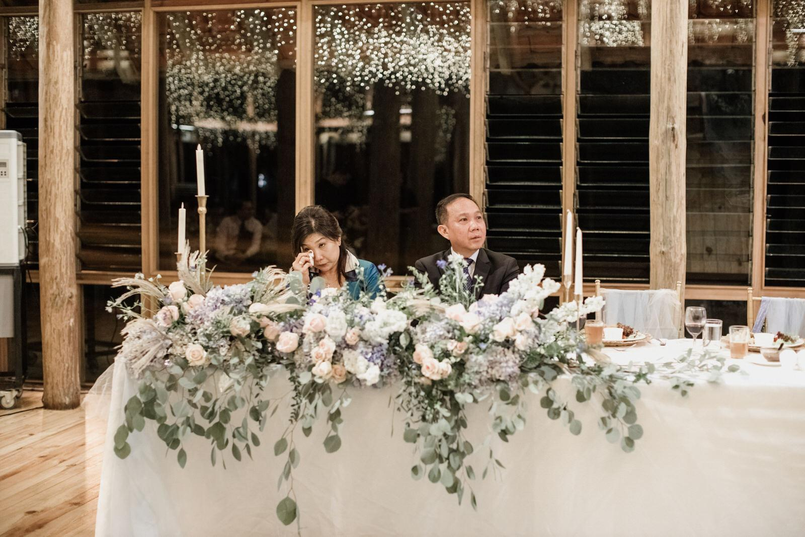 touching moments Tanarimba Gold and Rustic Garden Weding Janda baik Decoration wooden chair feather flowers Cliff Choong Photography