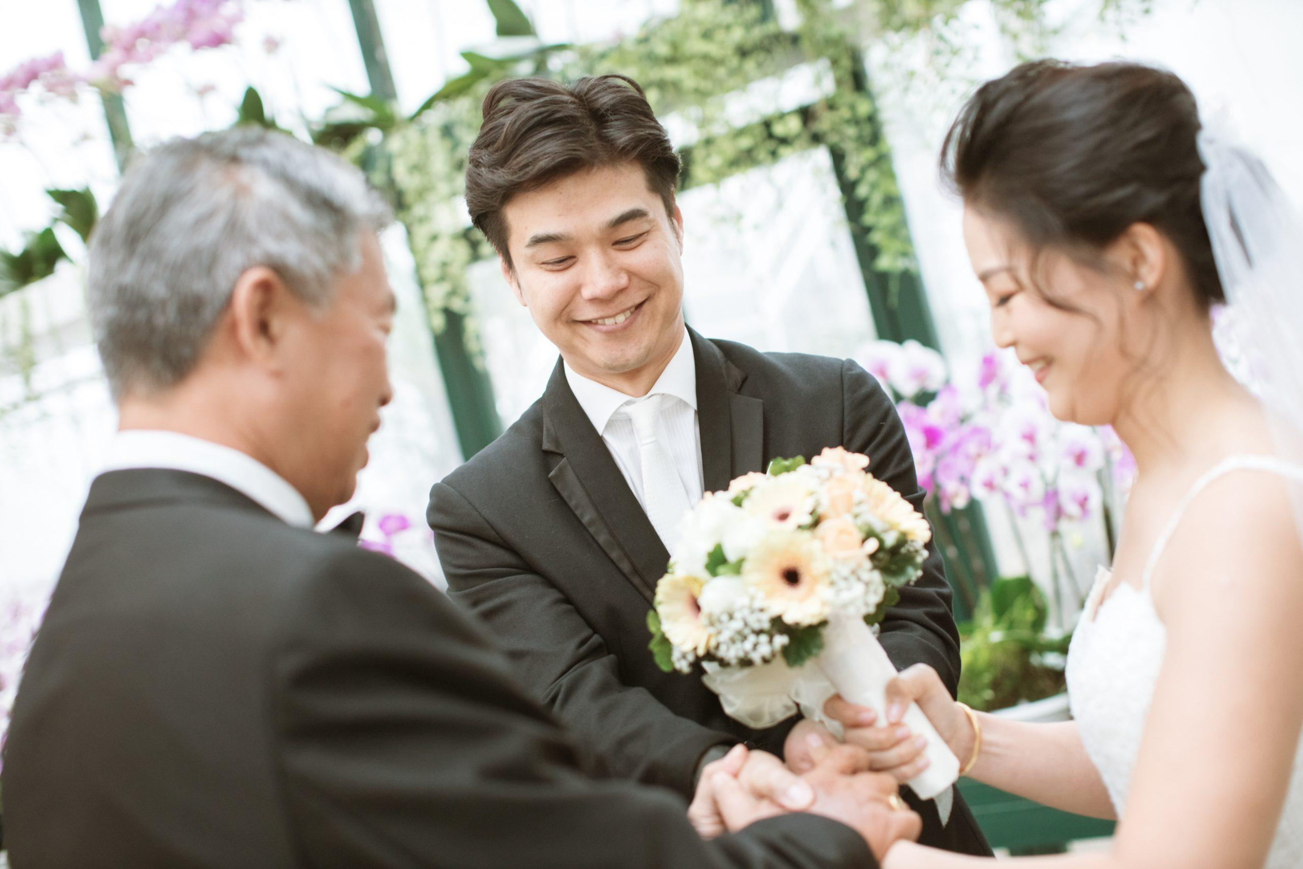 Exchange rings ROM ceremony actual day The Majestic Hotel Kuala Lumpur Cross cultural wedding japnese malaysian