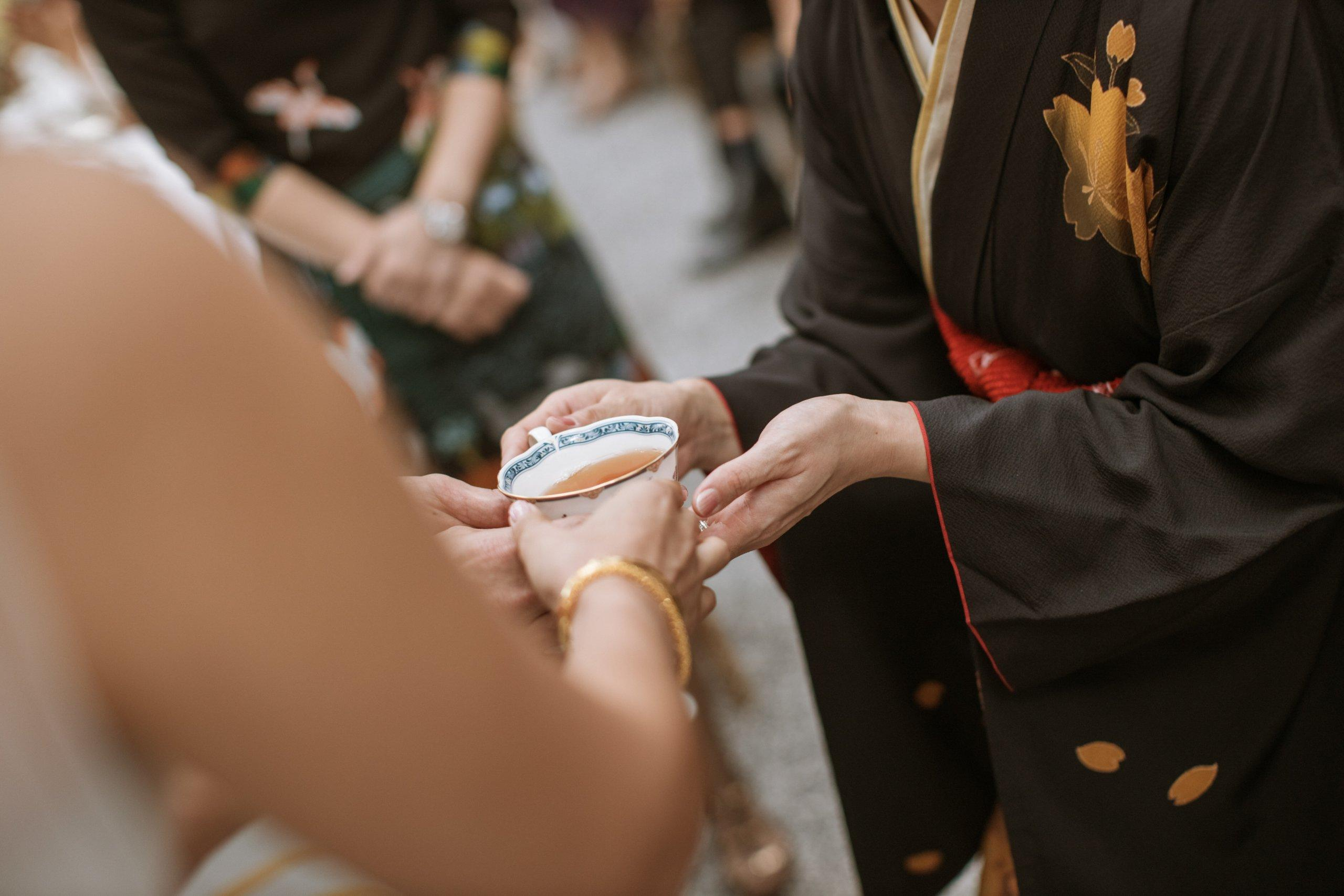 Tea ceremony actual day The Majestic Hotel Kuala Lumpur Cross cultural wedding japnese malaysian