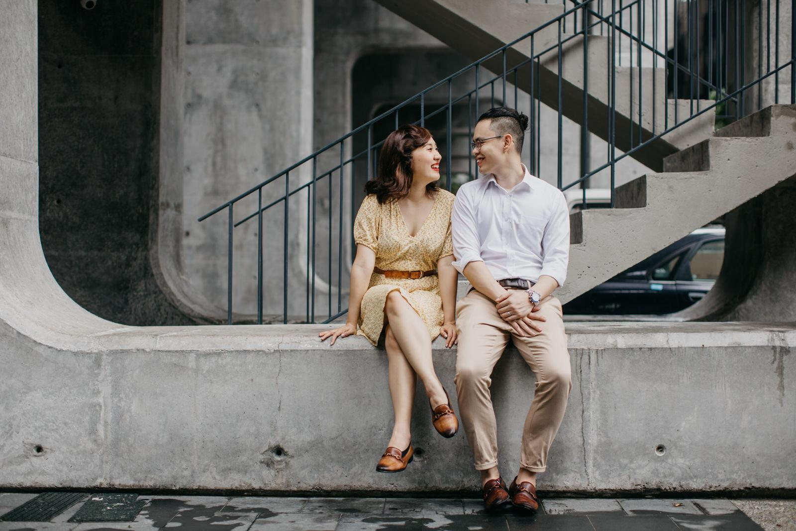bubbly frisky Prewedding Putrajaya Love Portrait in the Beautiful Kuala Lumpur Cliff Choong Photography