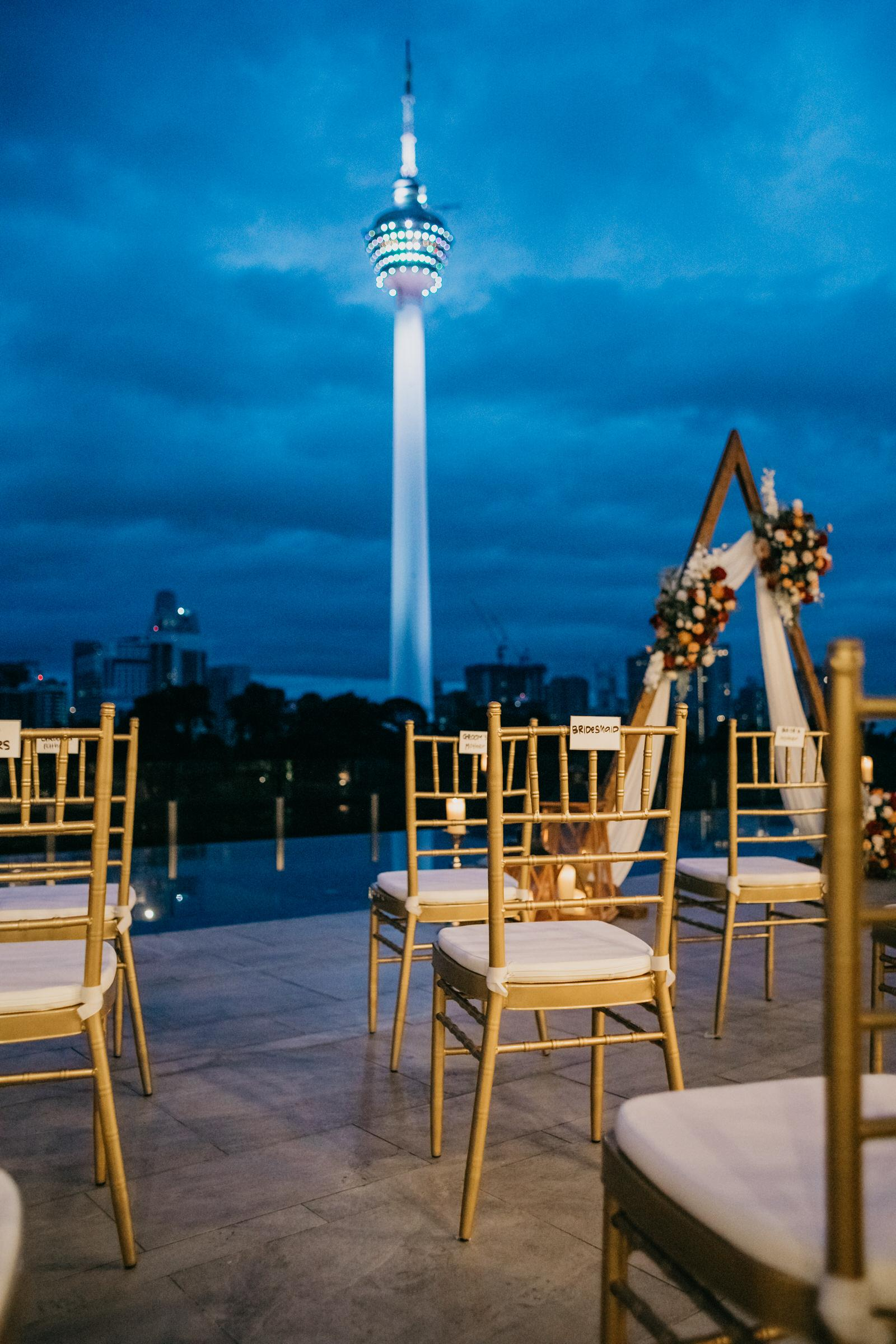 A Rooftop Poolside Wedding at Hotel Stripes Kuala Lumpur MCO2.0 Cliff Choong Photography Malaysia Covid19 ROM KL Tower