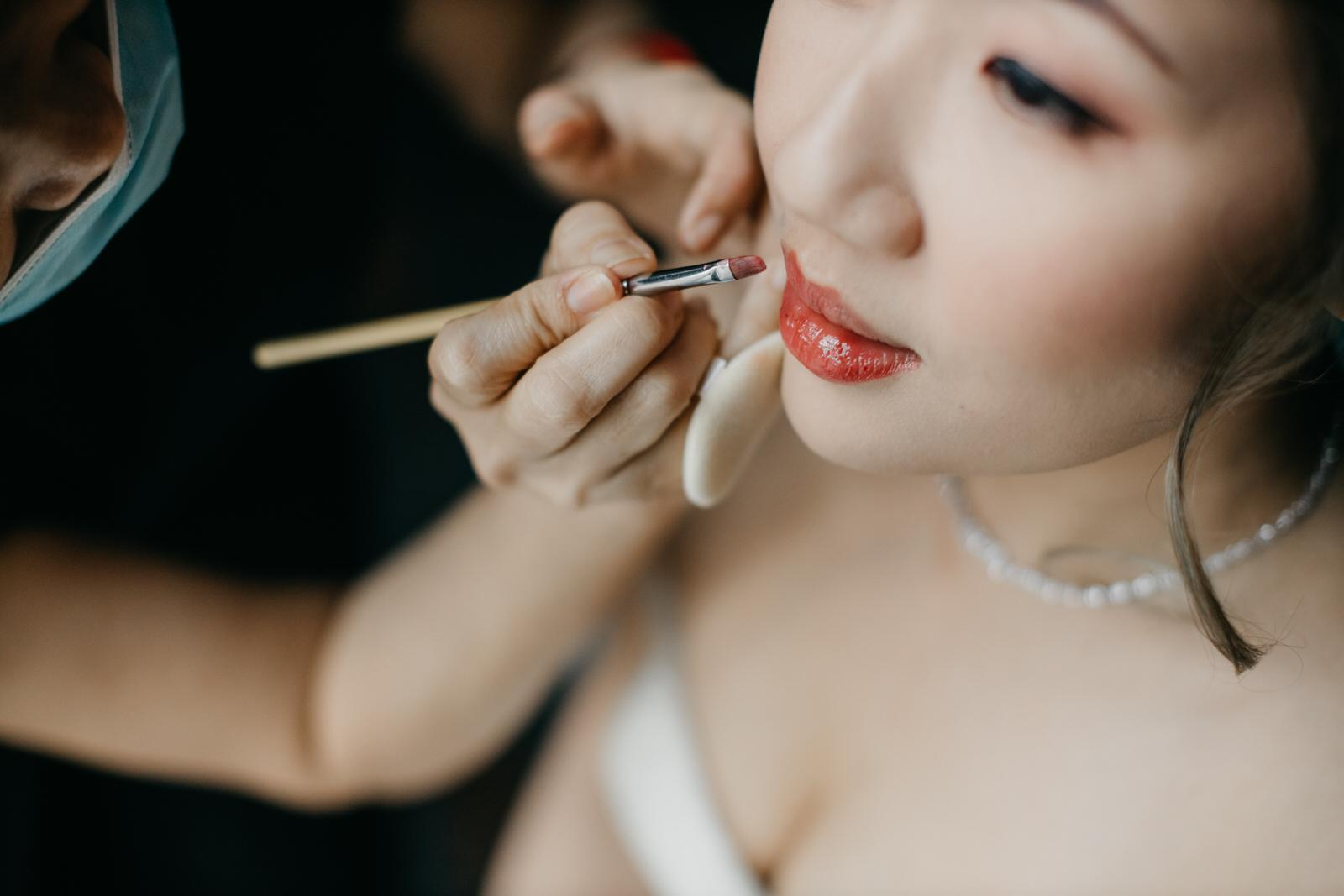 A Rooftop Poolside Wedding at Hotel Stripes Kuala Lumpur MCO2.0 Cliff Choong Photography Malaysia Covid19 ROM Bride Make Up Getting Ready