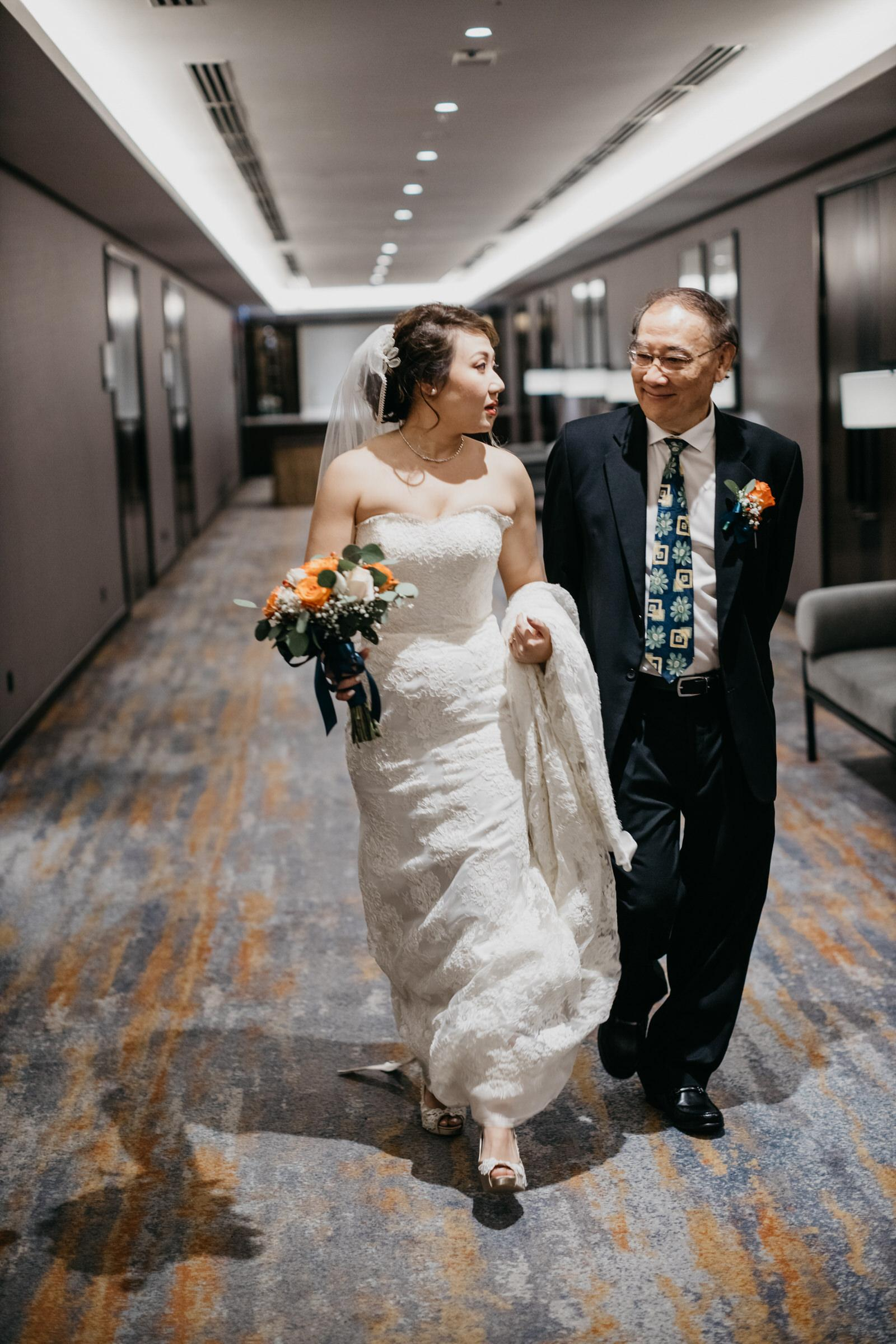 Father & Daugther A Rooftop Poolside Wedding at Hotel Stripes Kuala Lumpur MCO2.0 Cliff Choong Photography Malaysia Covid19 ROM Bride Getting Ready