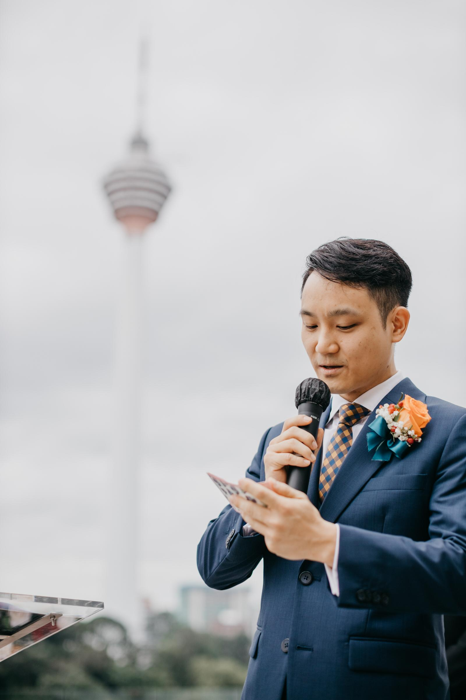 Vow Exchange Boho Deco Rooftop Poolside Wedding at Hotel Stripes Kuala Lumpur MCO2.0 Cliff Choong Photography Malaysia Covid19 ROM